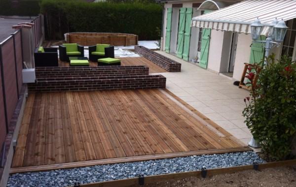 Création d'un jardin – terrasse